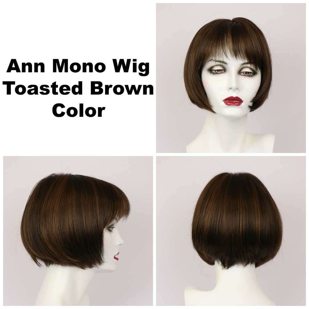 Toasted Brown / Ann Monofilament / Short Wig
