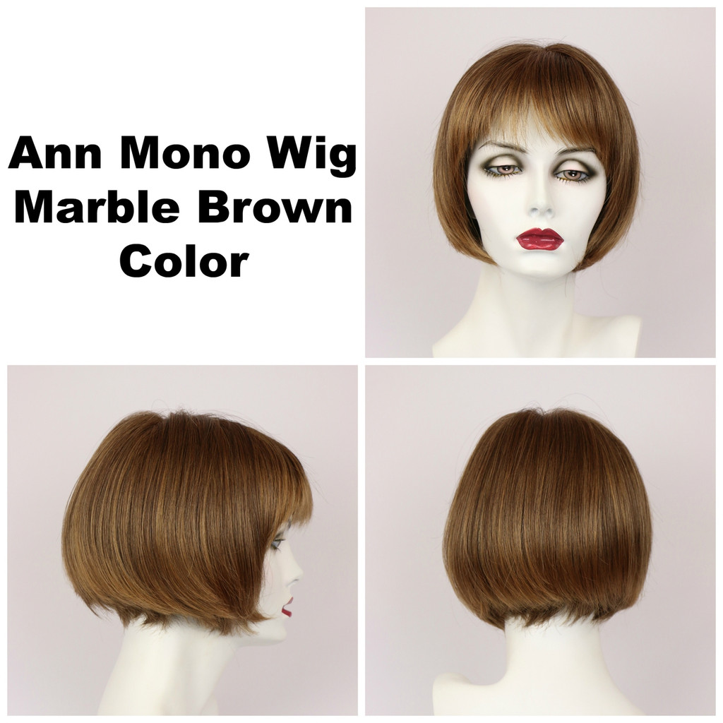 Marble Brown / Ann Monofilament / Short Wig