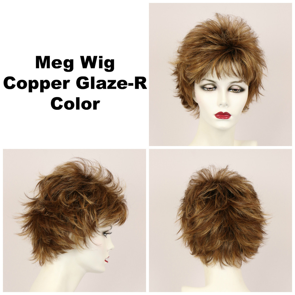 Copper Glaze-R / Meg w/ Roots / Short Wig