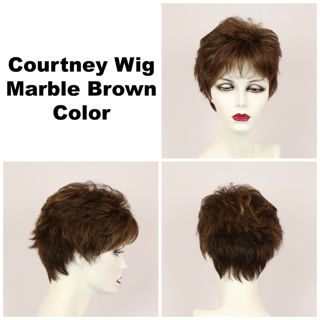 Marble Brown / Courtney / Short Wig