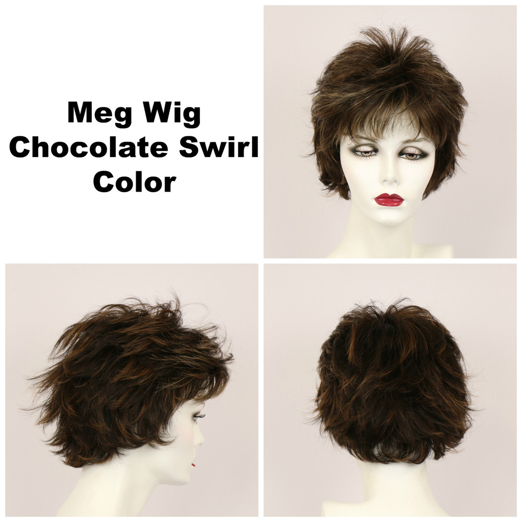 Chocolate Swirl / Meg / Short Wig