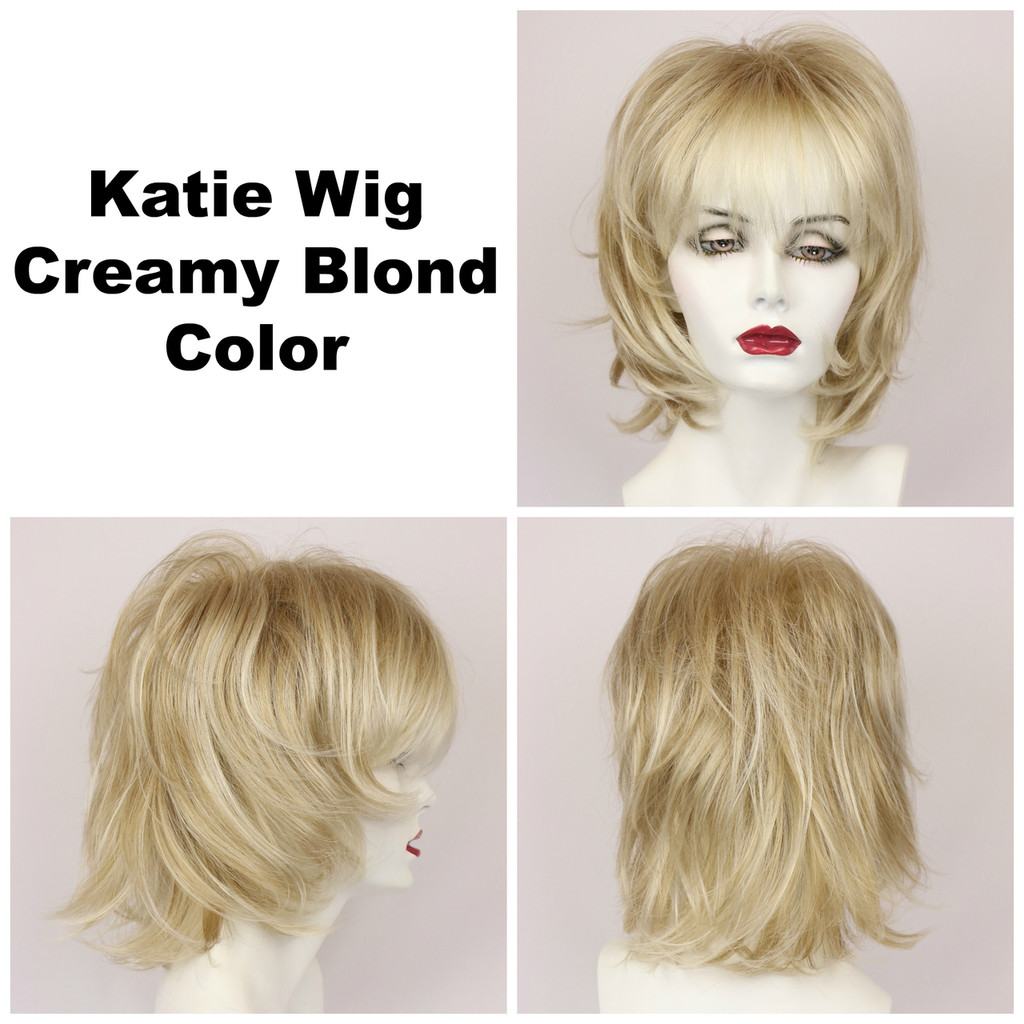 Creamy Blond / Katie / Medium Wig