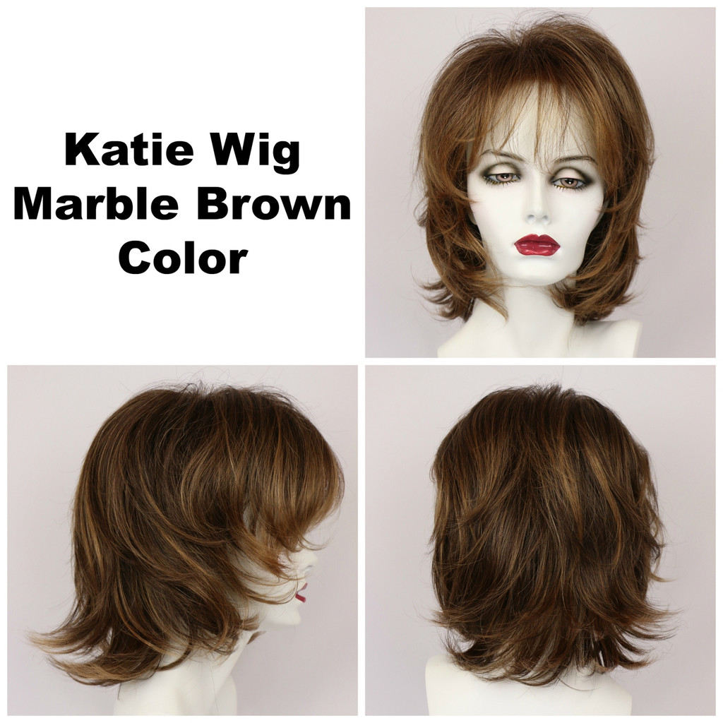 Marble Brown / Katie / Medium Wig