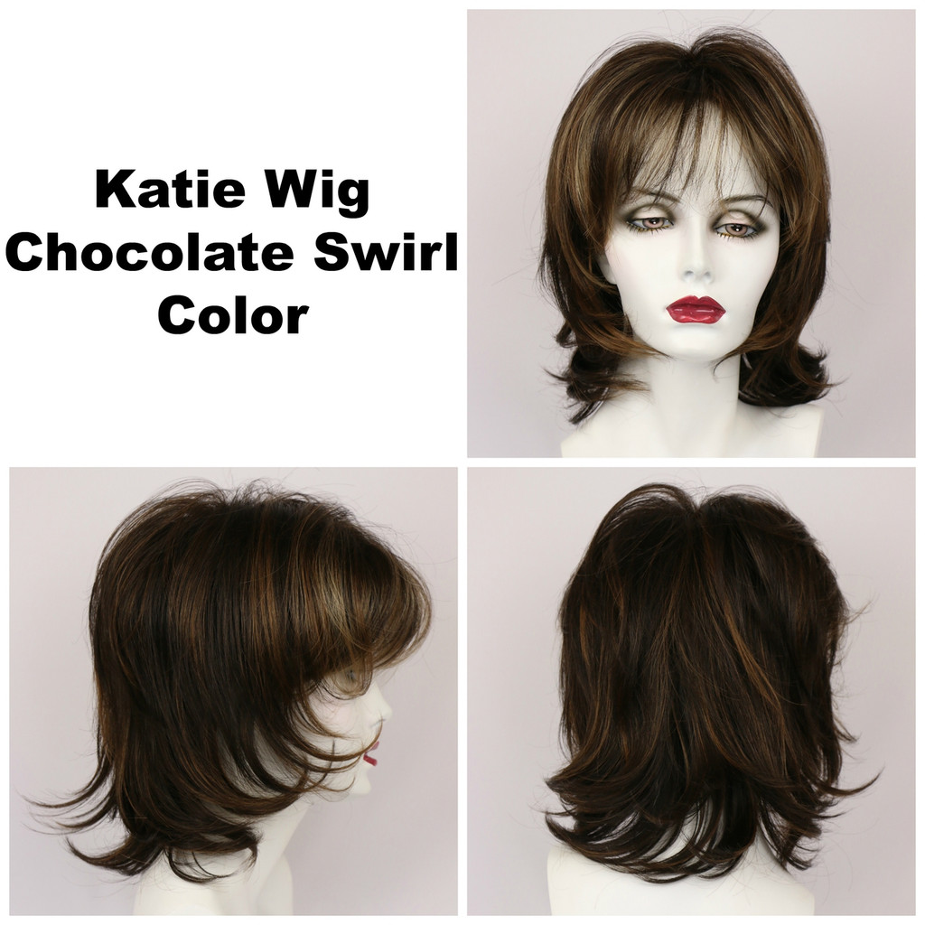 Chocolate Swirl / Katie / Medium Wig