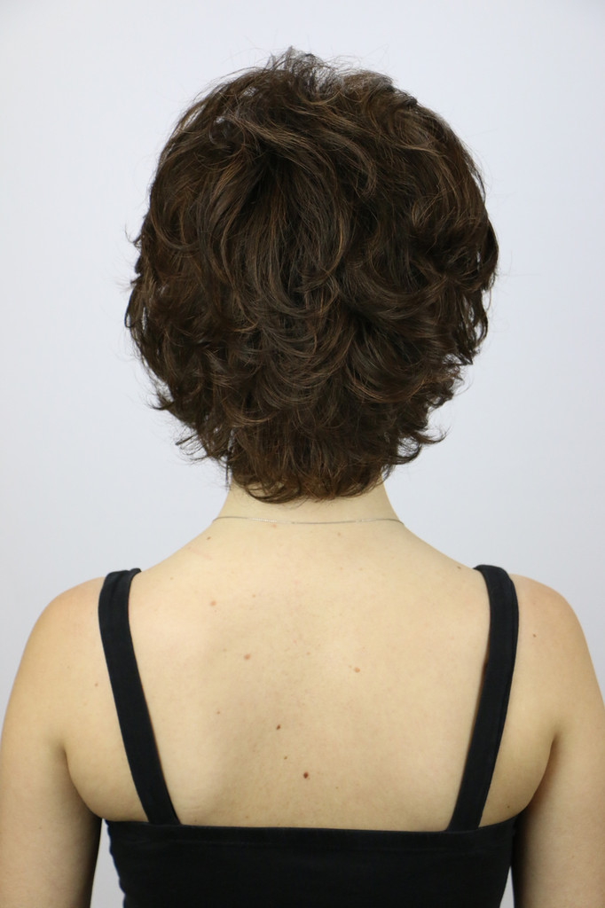 Back of Nina Wig in Ginger Brown.