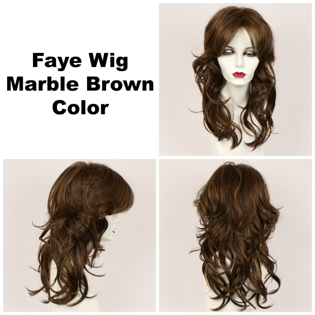 Marble Brown / Faye / Long Wig