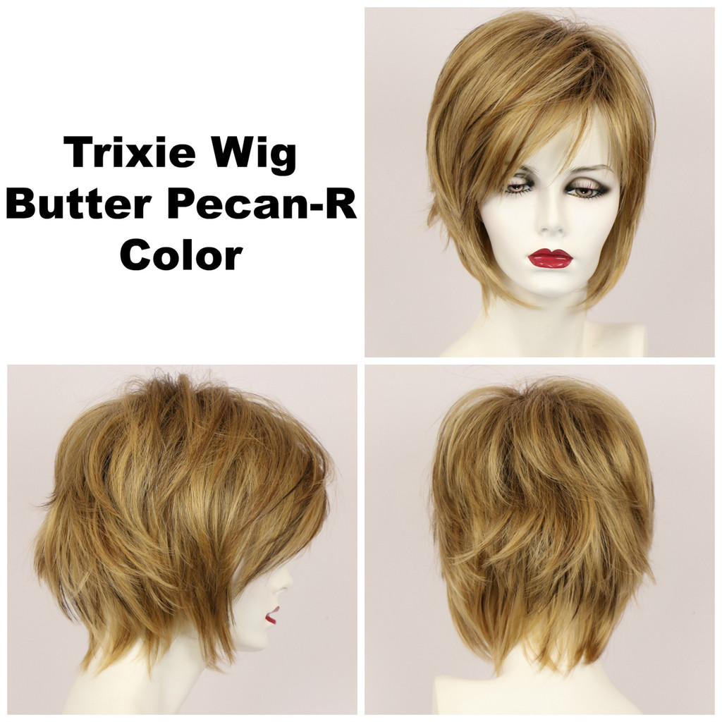 Butter Pecan-R / Trixie w/ Roots / Medium Wig