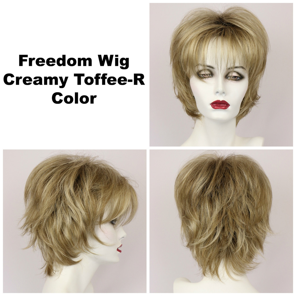 Creamy Toffee-R / Freedom w/ Roots / Medium Wig