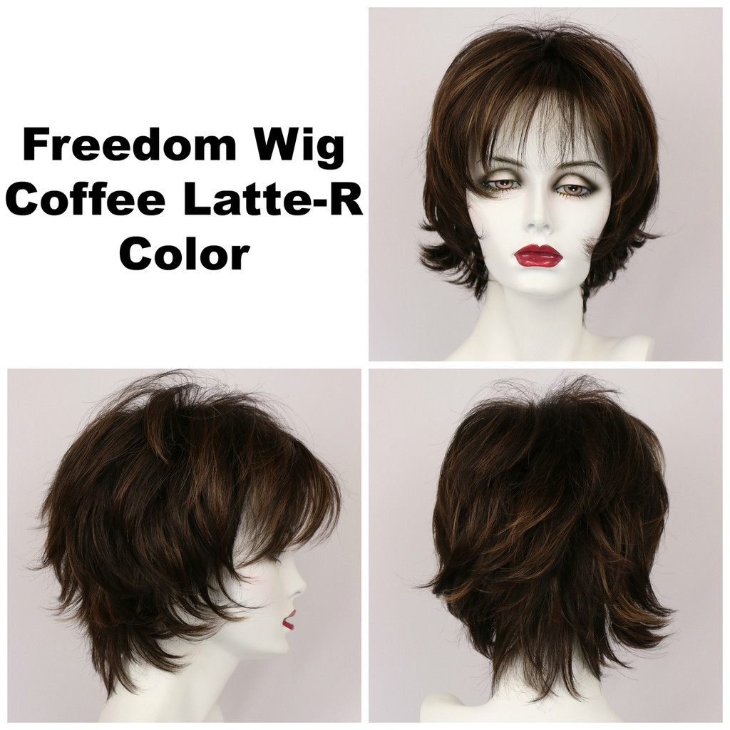 Coffee Latte-R / Freedom w/ Roots / Medium Wig