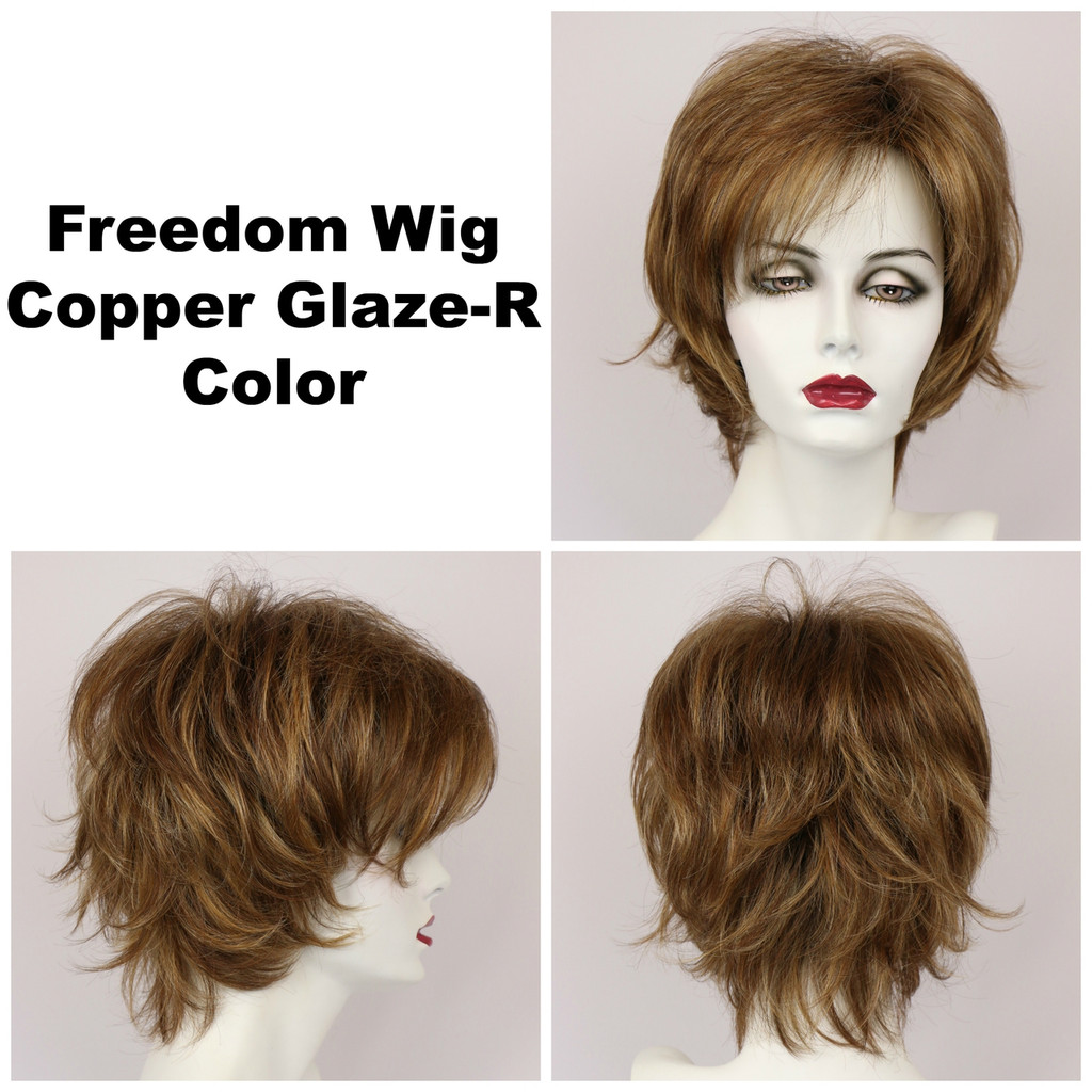 Copper Glaze-R / Freedom w/ Roots / Medium Wig
