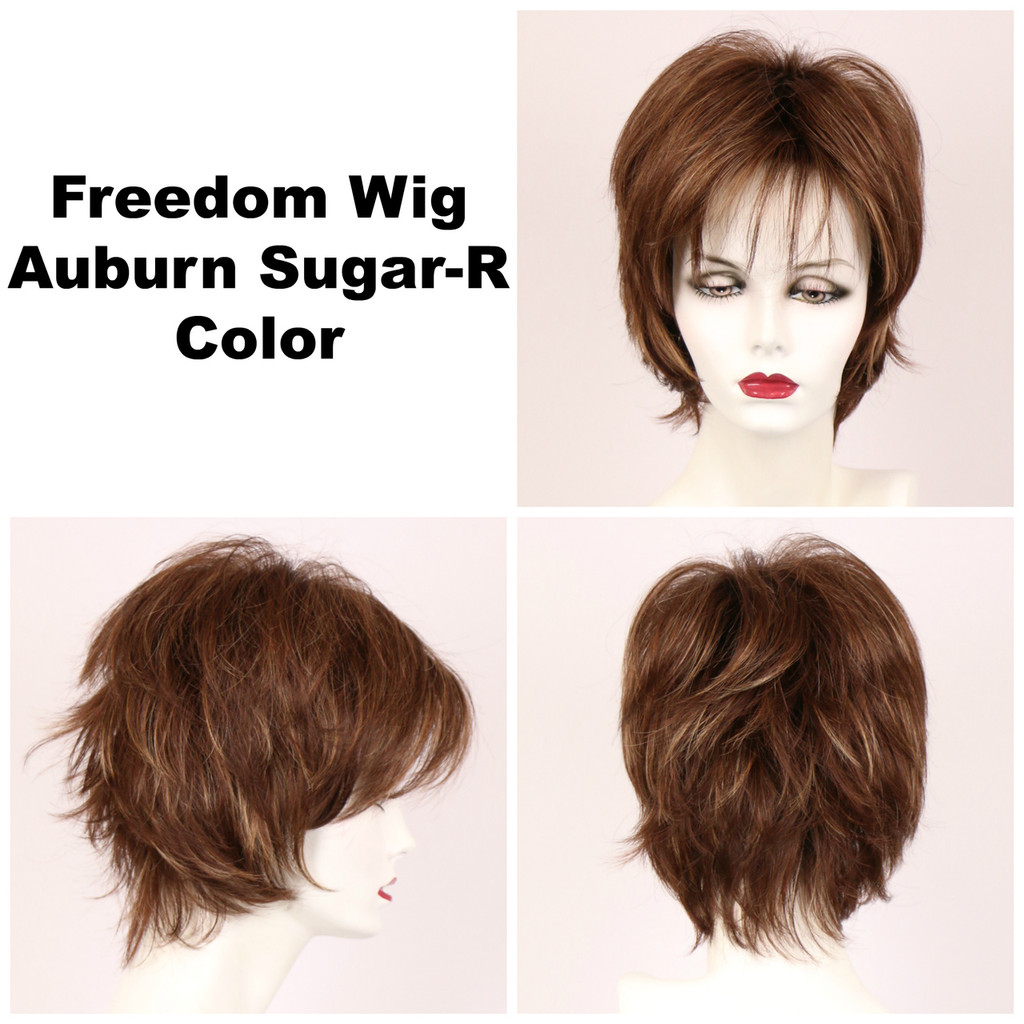 Auburn Sugar-R / Freedom w/ Roots / Medium Wig
