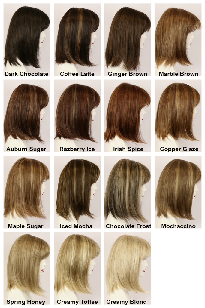 Color Chart / Brianne Mono / Medium Wig