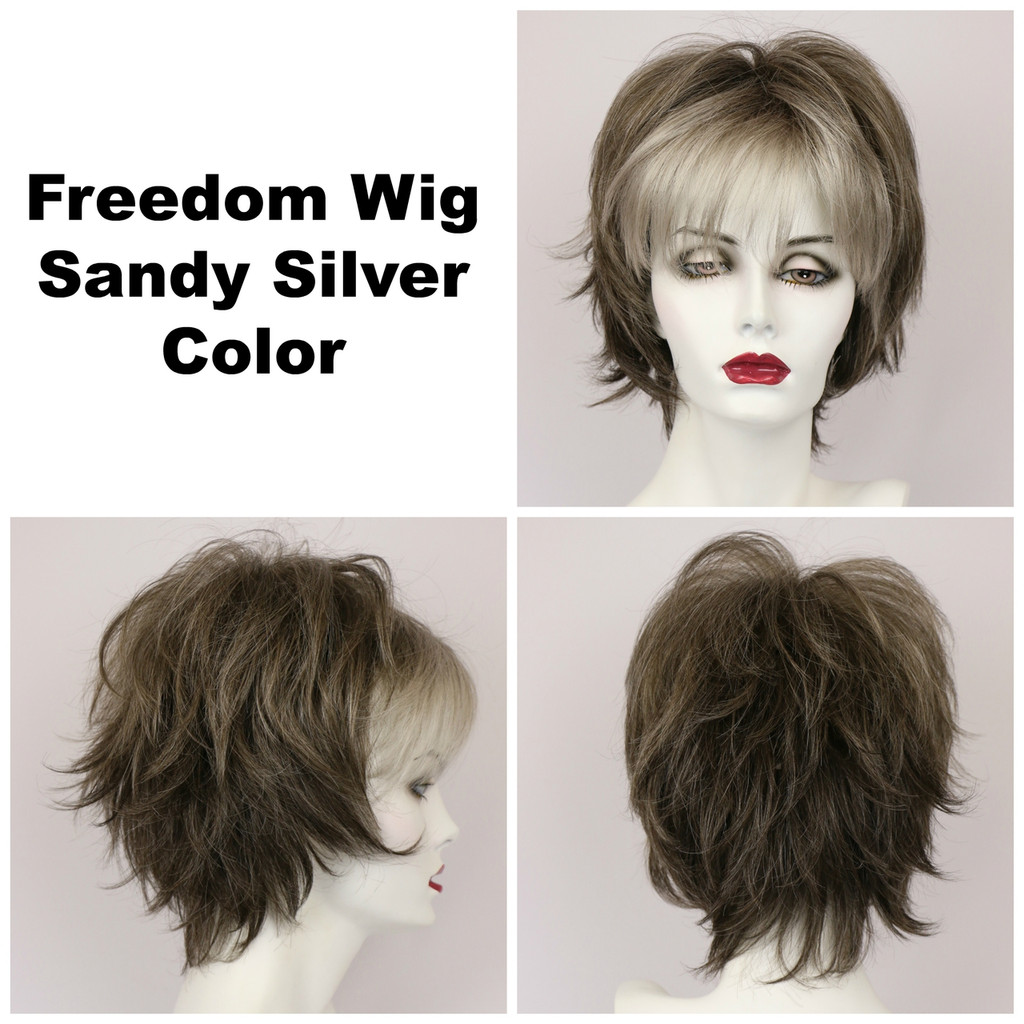 Sandy Silver / Freedom / Medium Wig