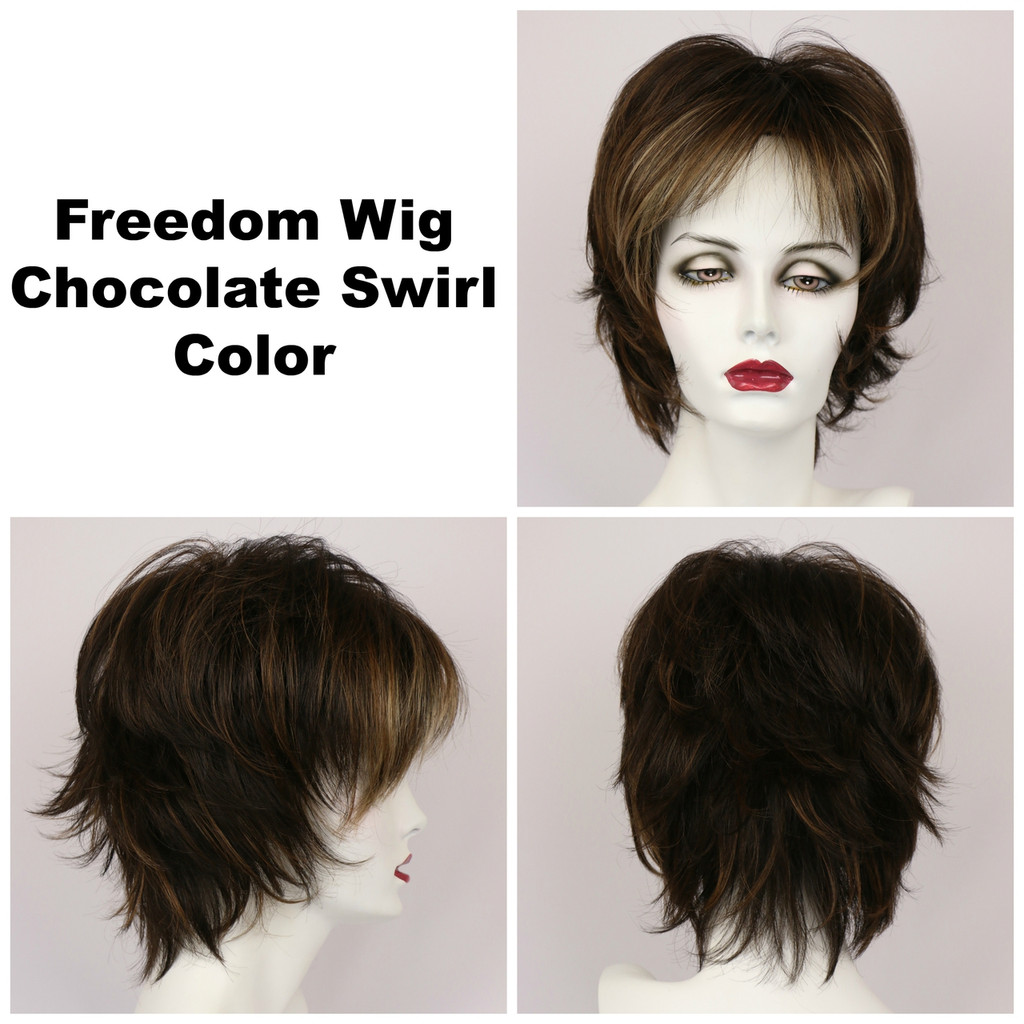 Chocolate Swirl / Freedom / Medium Wig