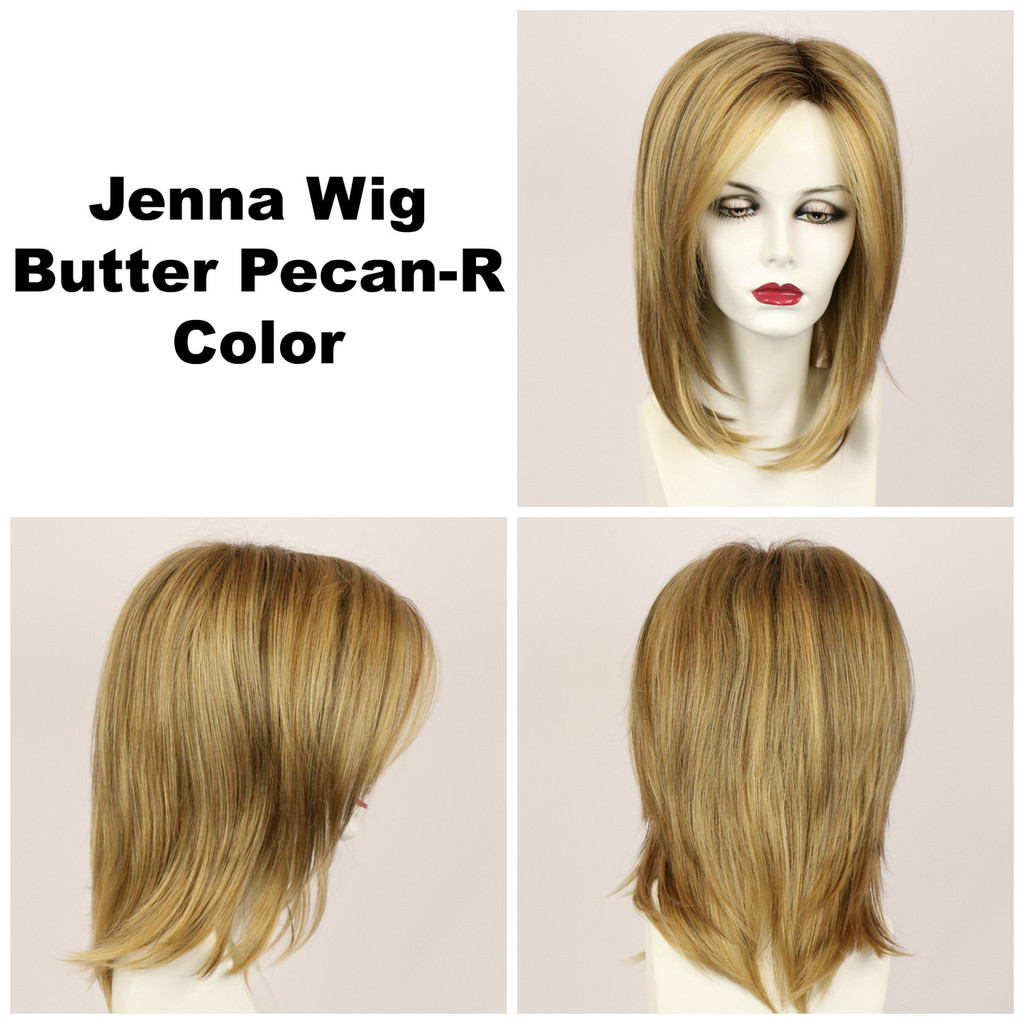 Butter Pecan-R / Jenna w/ Roots / Long Wig