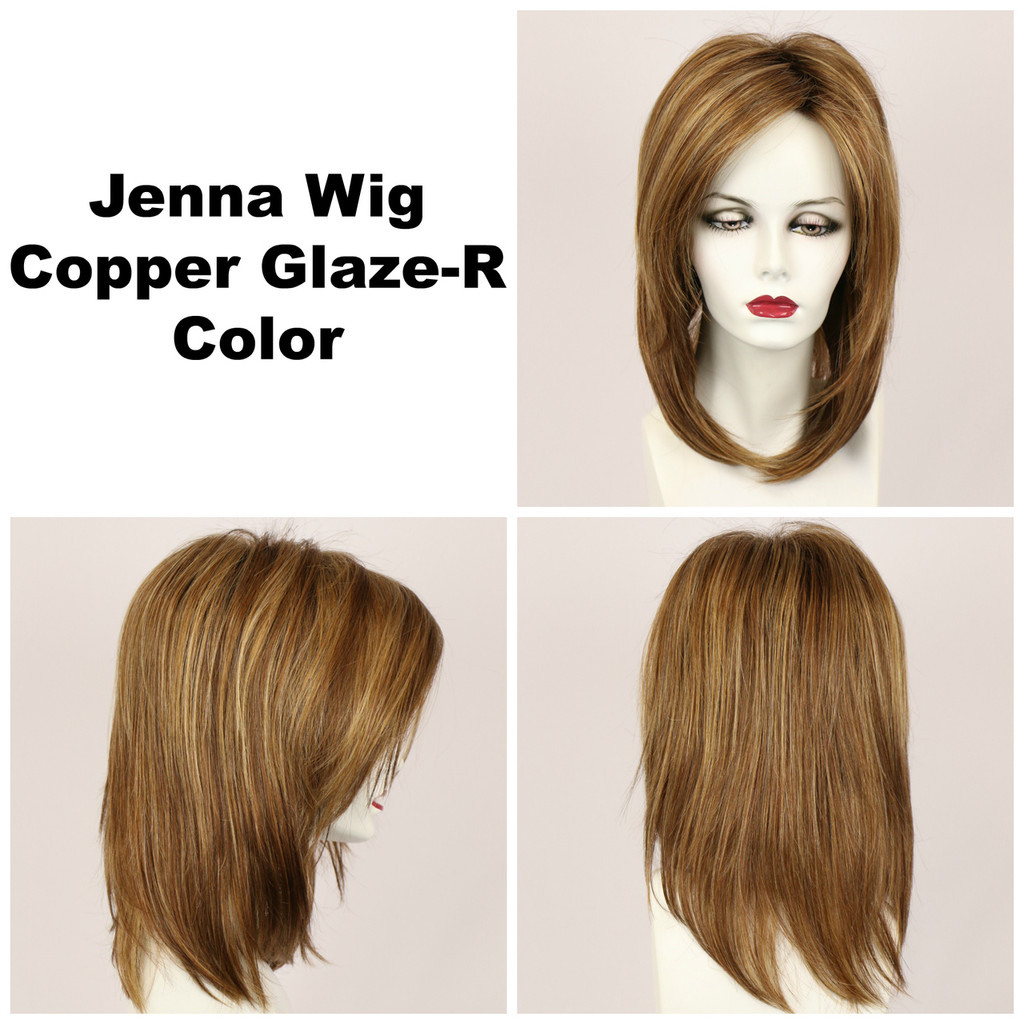 Copper Glaze-R / Jenna w/ Roots / Long Wig