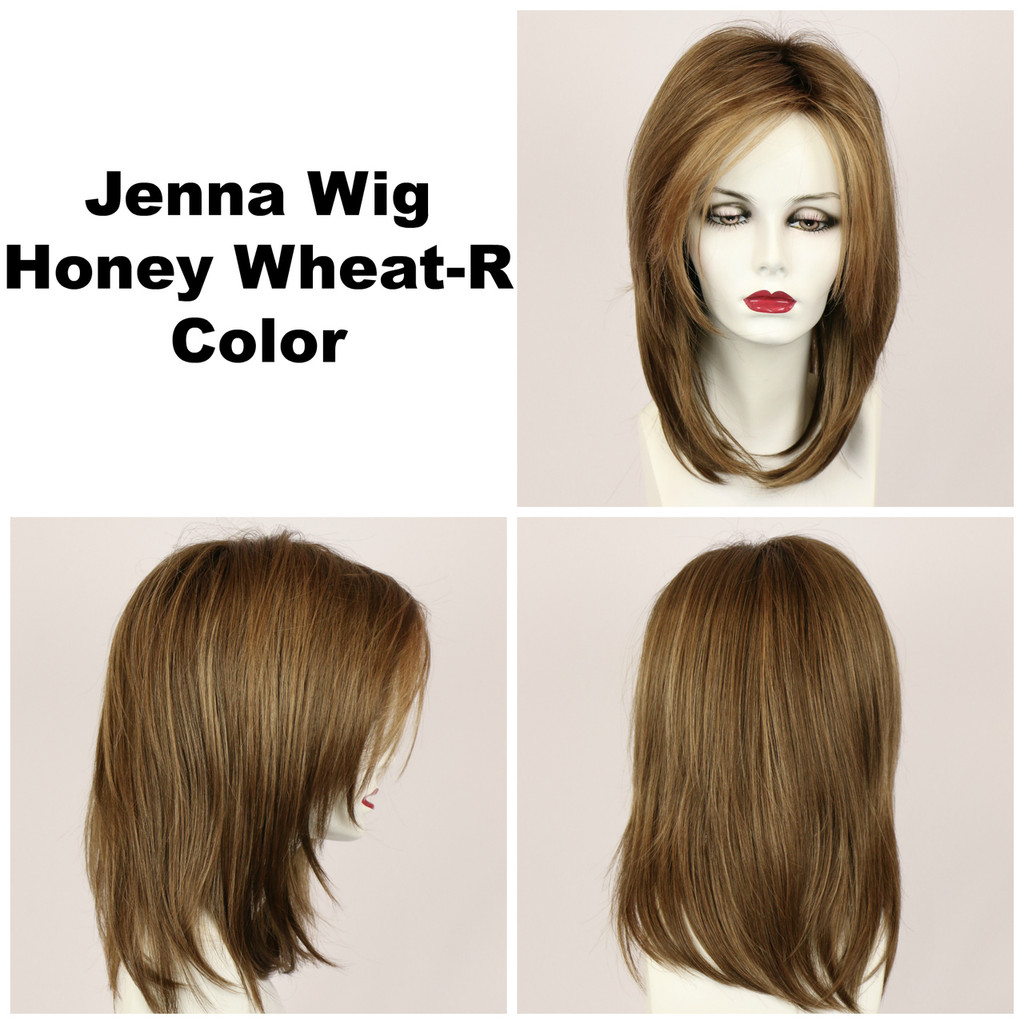 Honey Wheat-R / Jenna w/ Roots / Long Wig