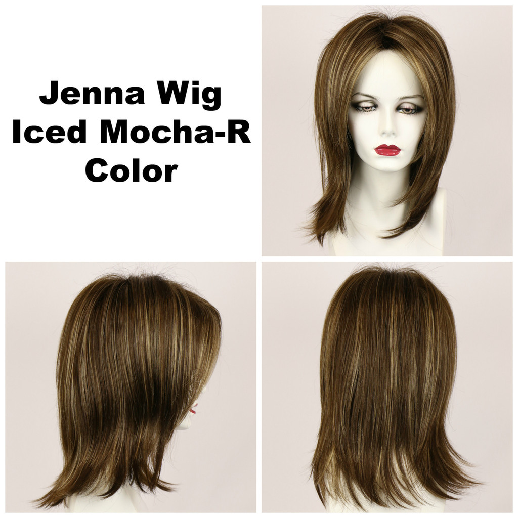 Iced Mocha-R / Jenna w/ Roots / Long Wig