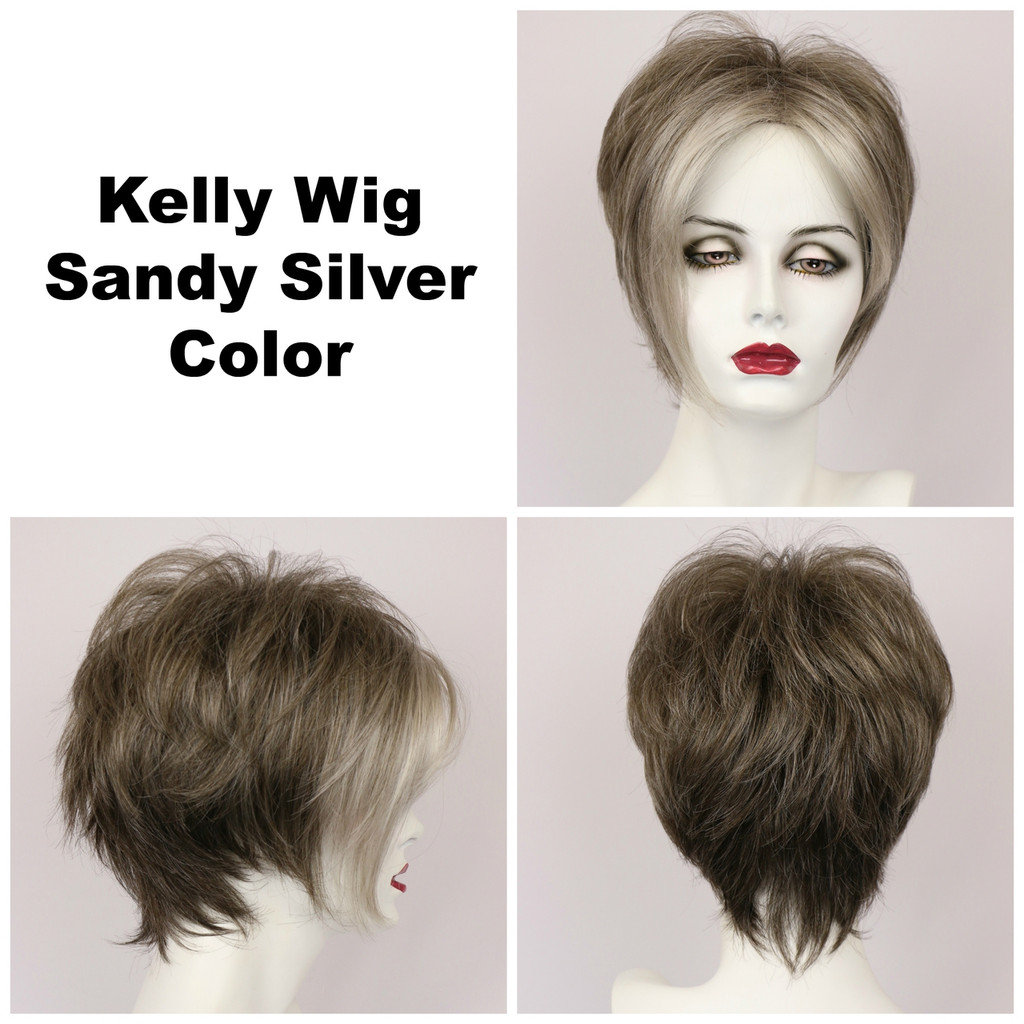 Sandy Silver / Kelly / Short Wig