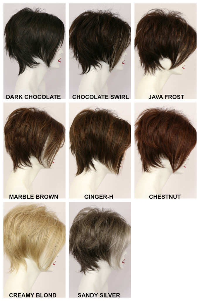 Color Chart / Kelly / Short Wig