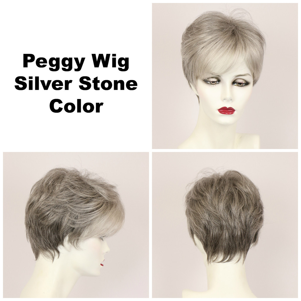 Silver Stone / Peggy / Short Wig