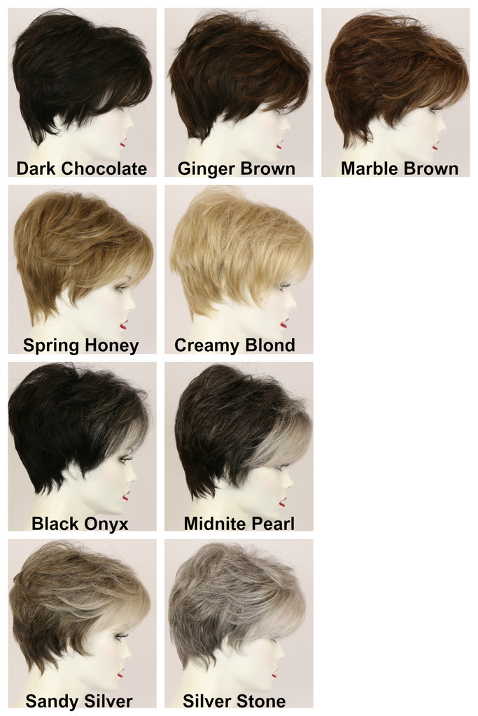 Color Chart / Peggy / Short Wig