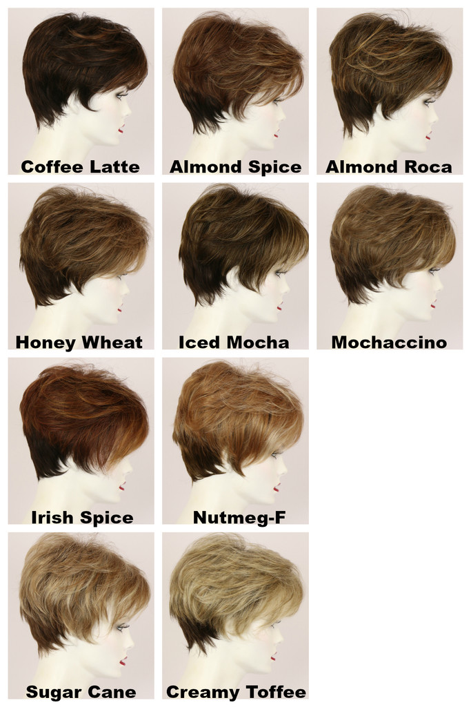 Color Chart / Peggy w/ Roots / Short Wig