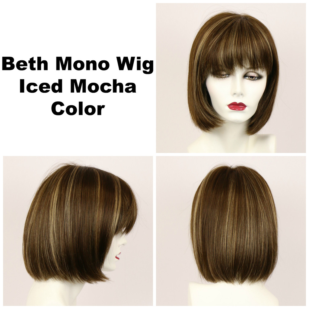 Iced Mocha / Beth Monofilament / Medium Wig