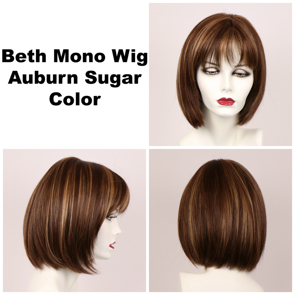 Auburn Sugar / Beth Monofilament / Medium Wig