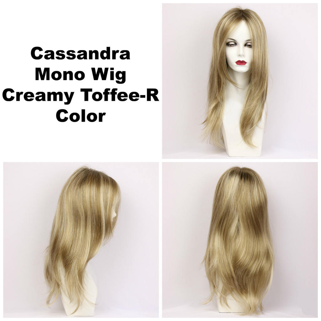 Creamy Toffee-R / Cassandra Monofilament w/ Roots / Long Wig