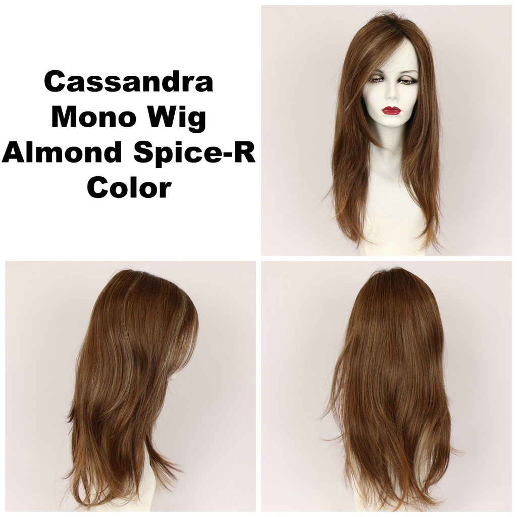 Almond Spice-R / Cassandra Monofilament w/ Roots / Long Wig