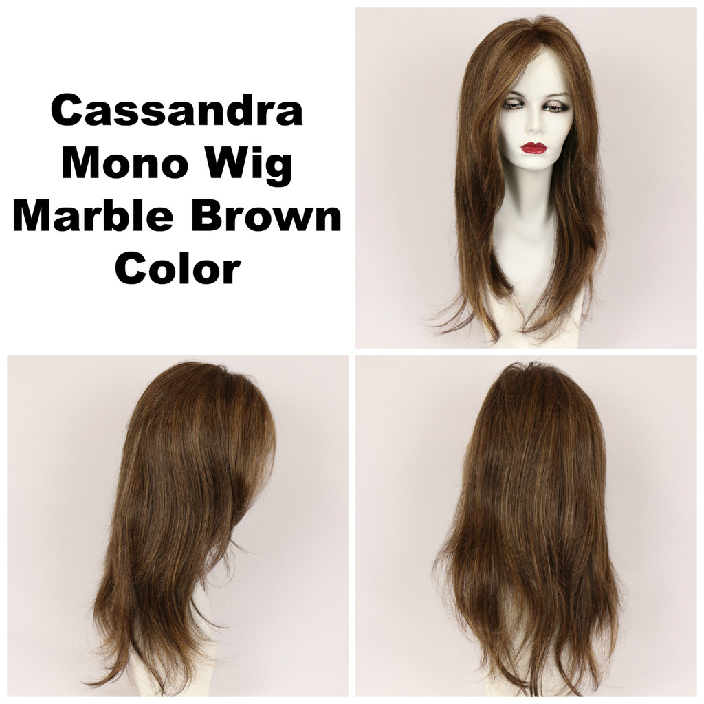 Marble Brown / Cassandra Monofilament / Long Wig