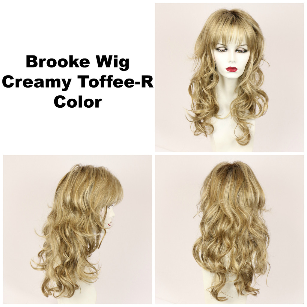 Creamy Toffee-R / Brooke w/ Roots / Long Wig