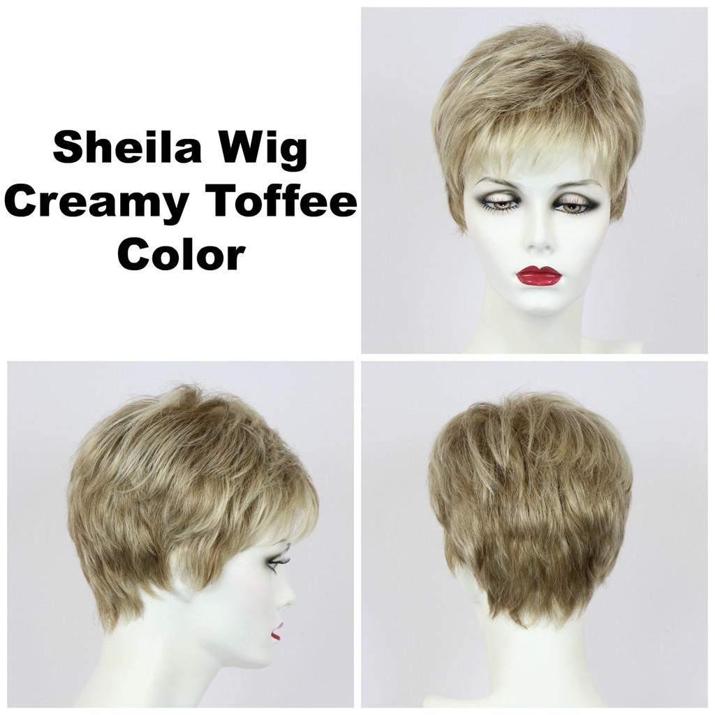 Creamy Toffee / Shelia / Short Wig
