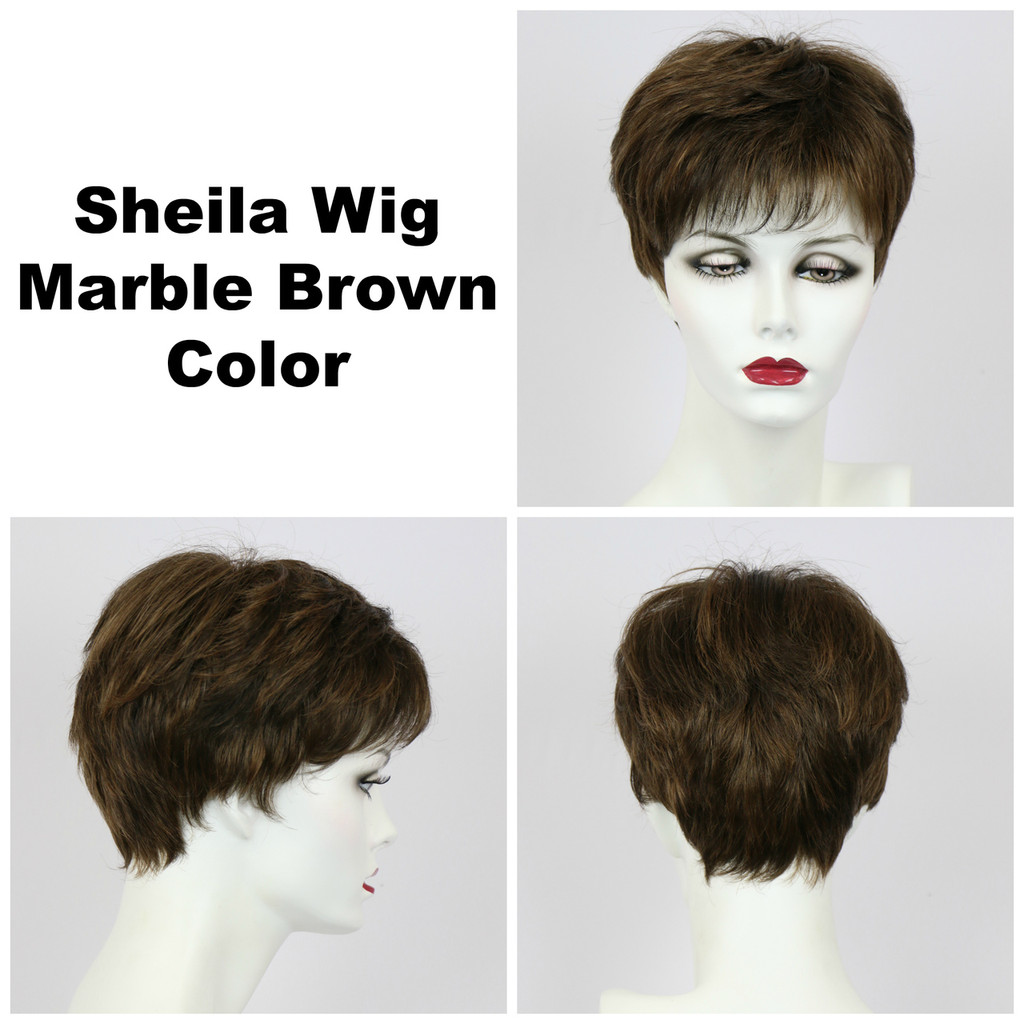 Marble Brown / Shelia / Short Wig