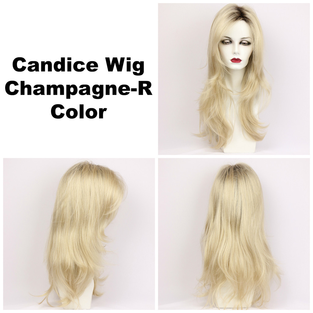 Champagne-R / Candice w/ Roots / Long Wig