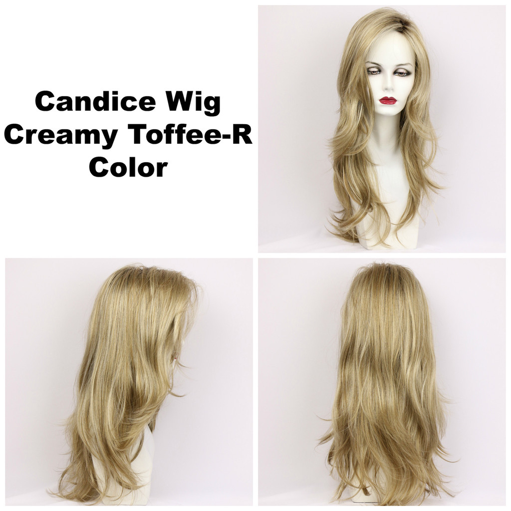 Creamy Toffee-R / Candice w/ Roots / Long Wig