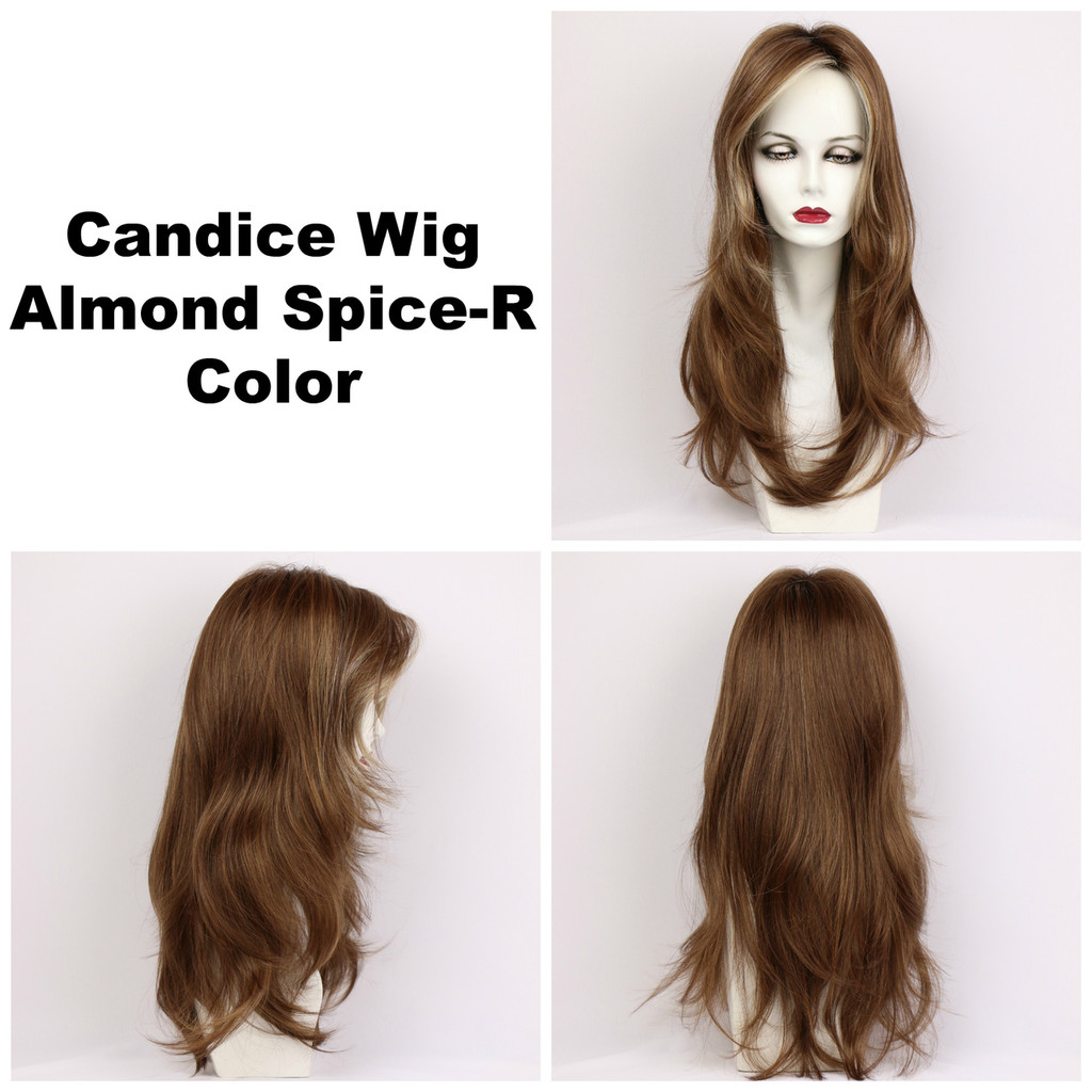 Almond Spice-R / Candice w/ Roots / Long Wig
