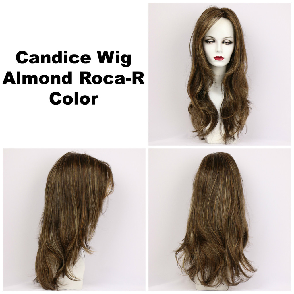 Almond Roca-R / Candice w/ Roots / Long Wig
