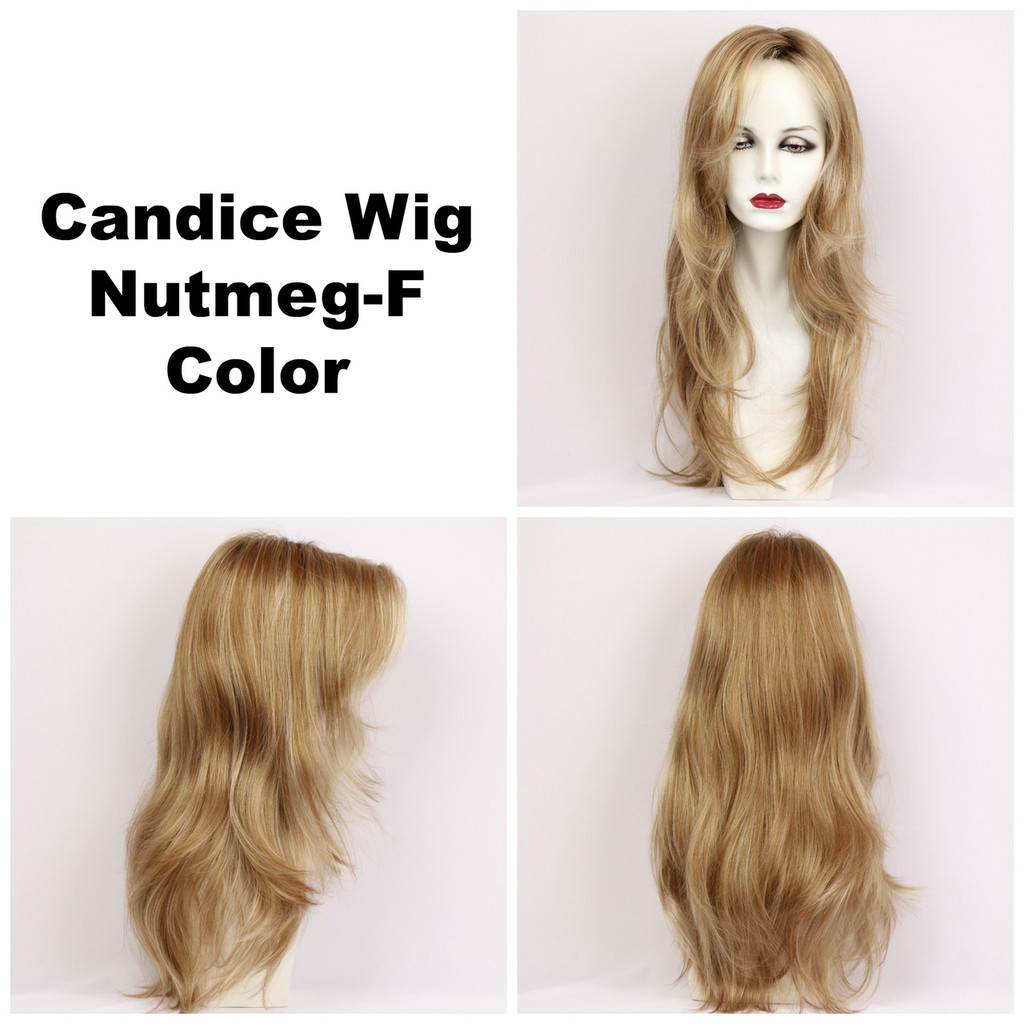 Nutmeg-F / Candice w/ Roots / Long Wig