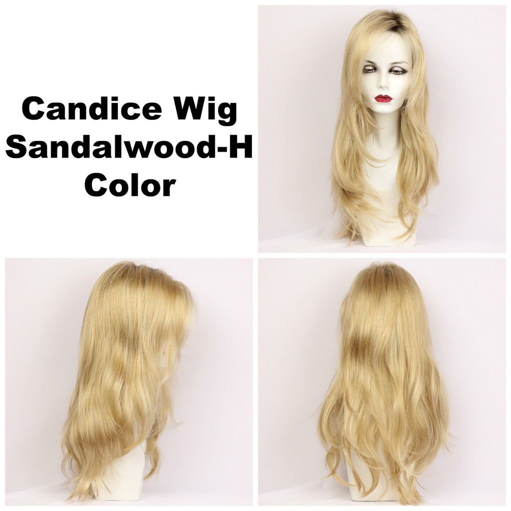 Sandalwood-H / Candice w/ Roots / Long Wig