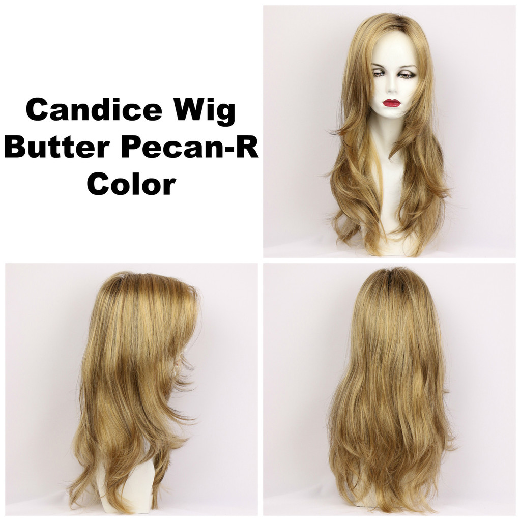 Butter Pecan-R / Candice w/ Roots / Long Wig