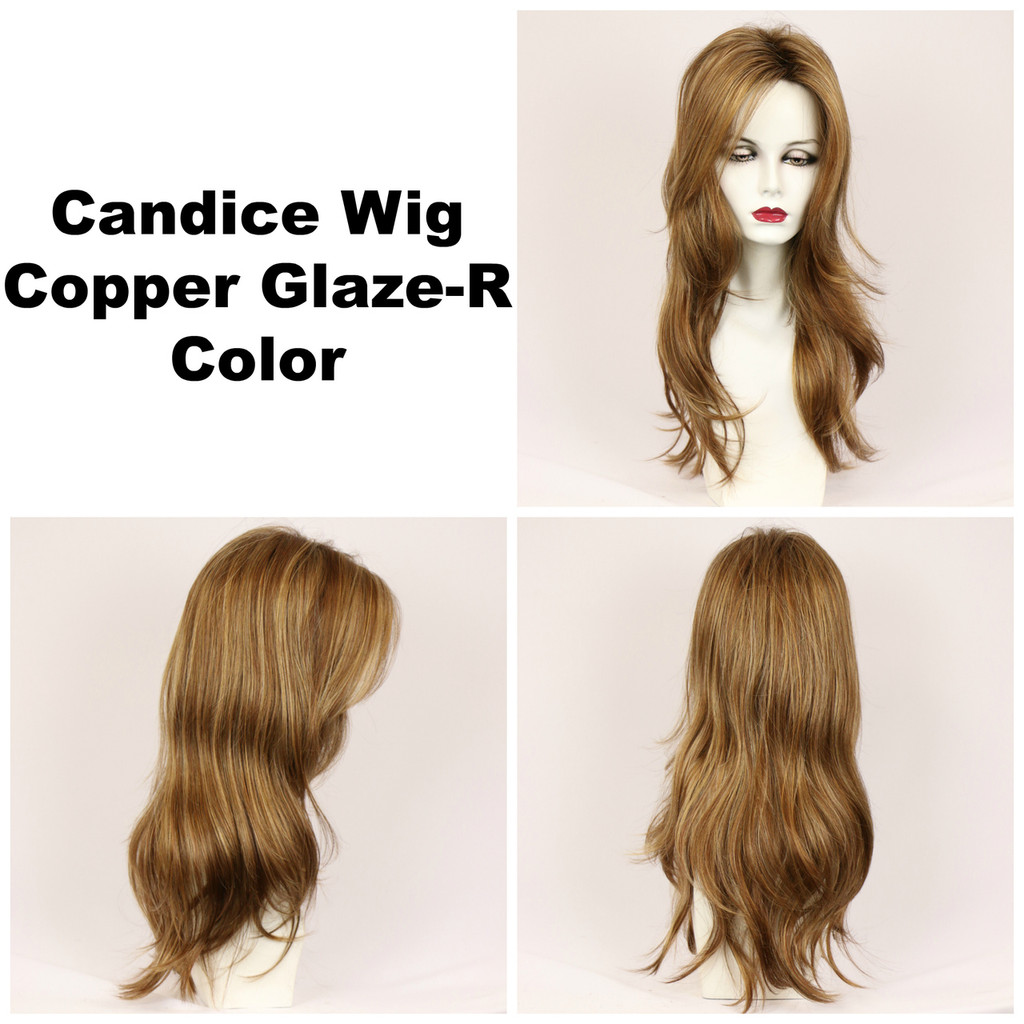Copper Glaze-R / Candice w/ Roots / Long Wig