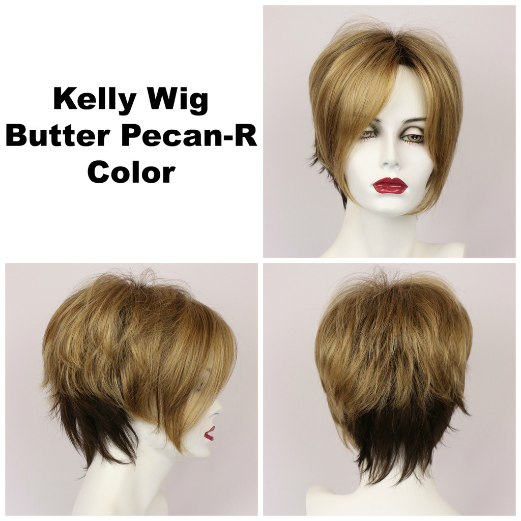 Butter Pecan-R / Kelly w/ Roots / Short Wig