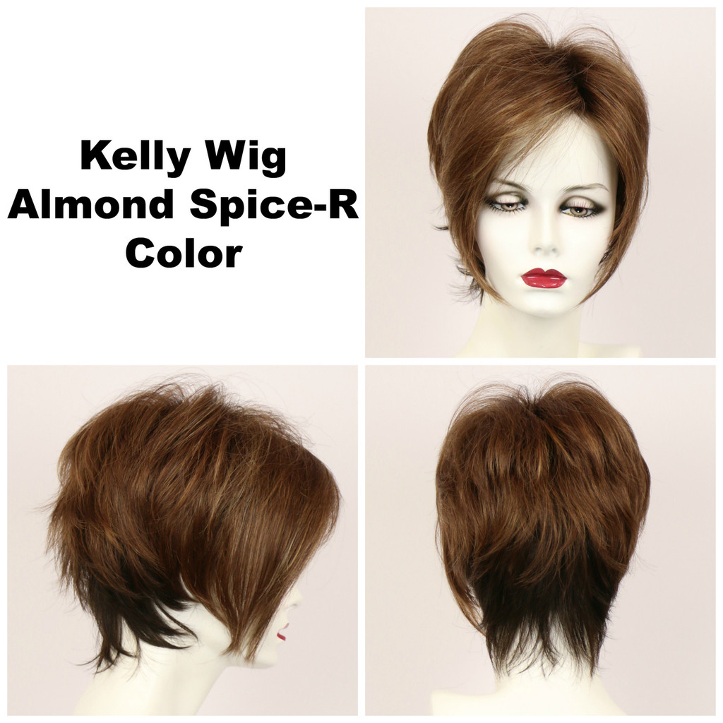 Almond Spice-R / Kelly w/ Roots / Short Wig