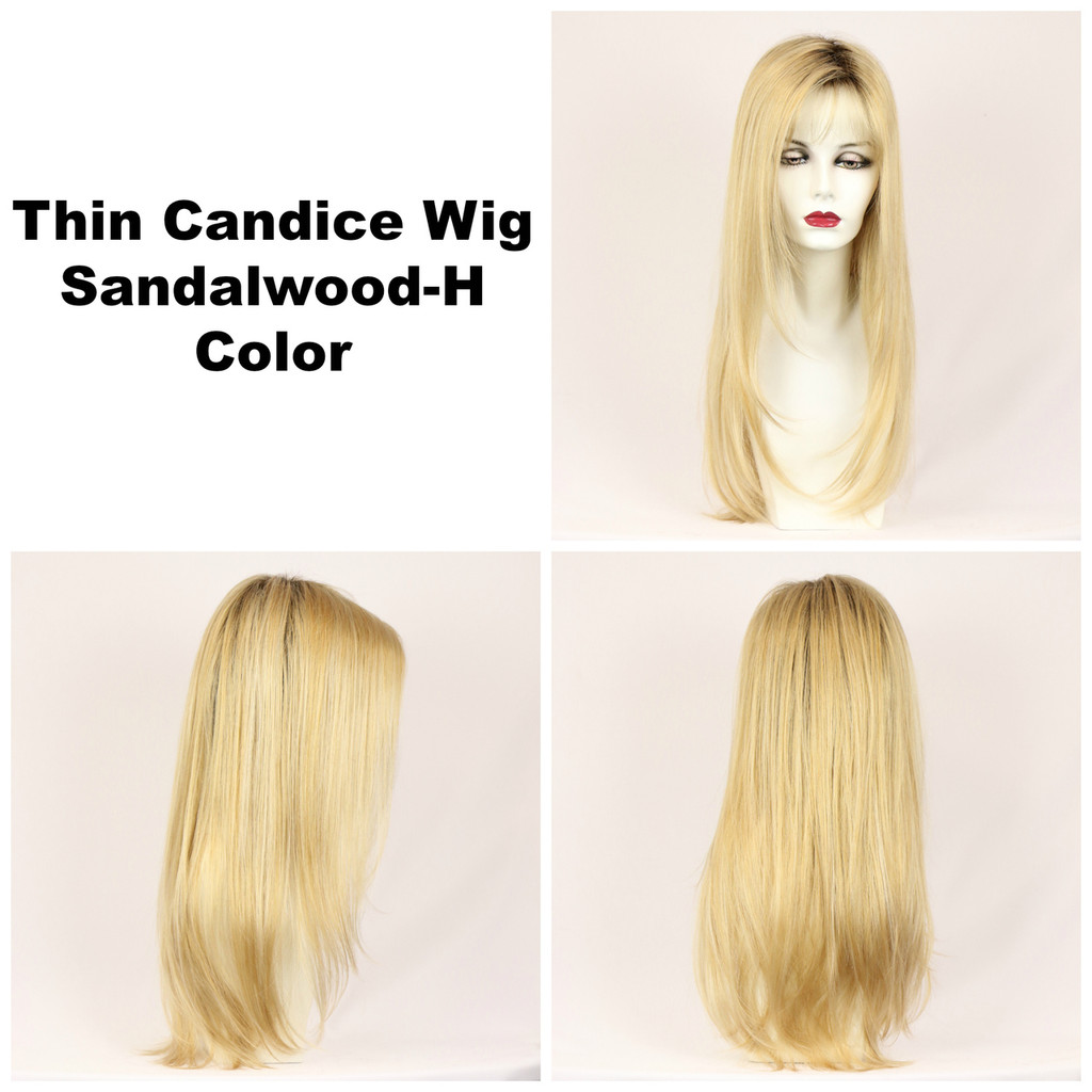 Sandalwood-H / Thin Candice w/ Roots / Long Wig