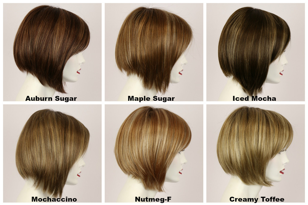 Color Chart / Vicki Mono w/ Roots / Short Wig