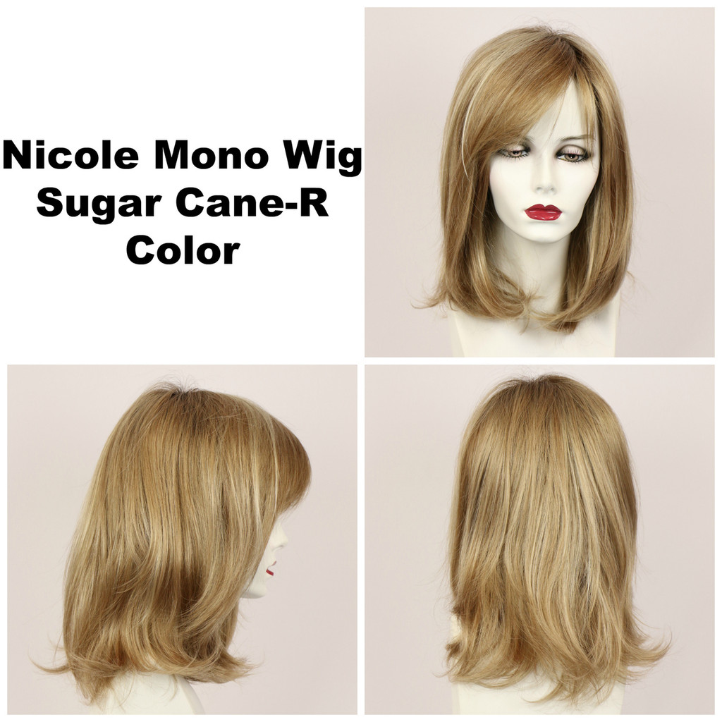 Sugar Cane-R / Nicole Monofilament w/ Roots / Medium Wig