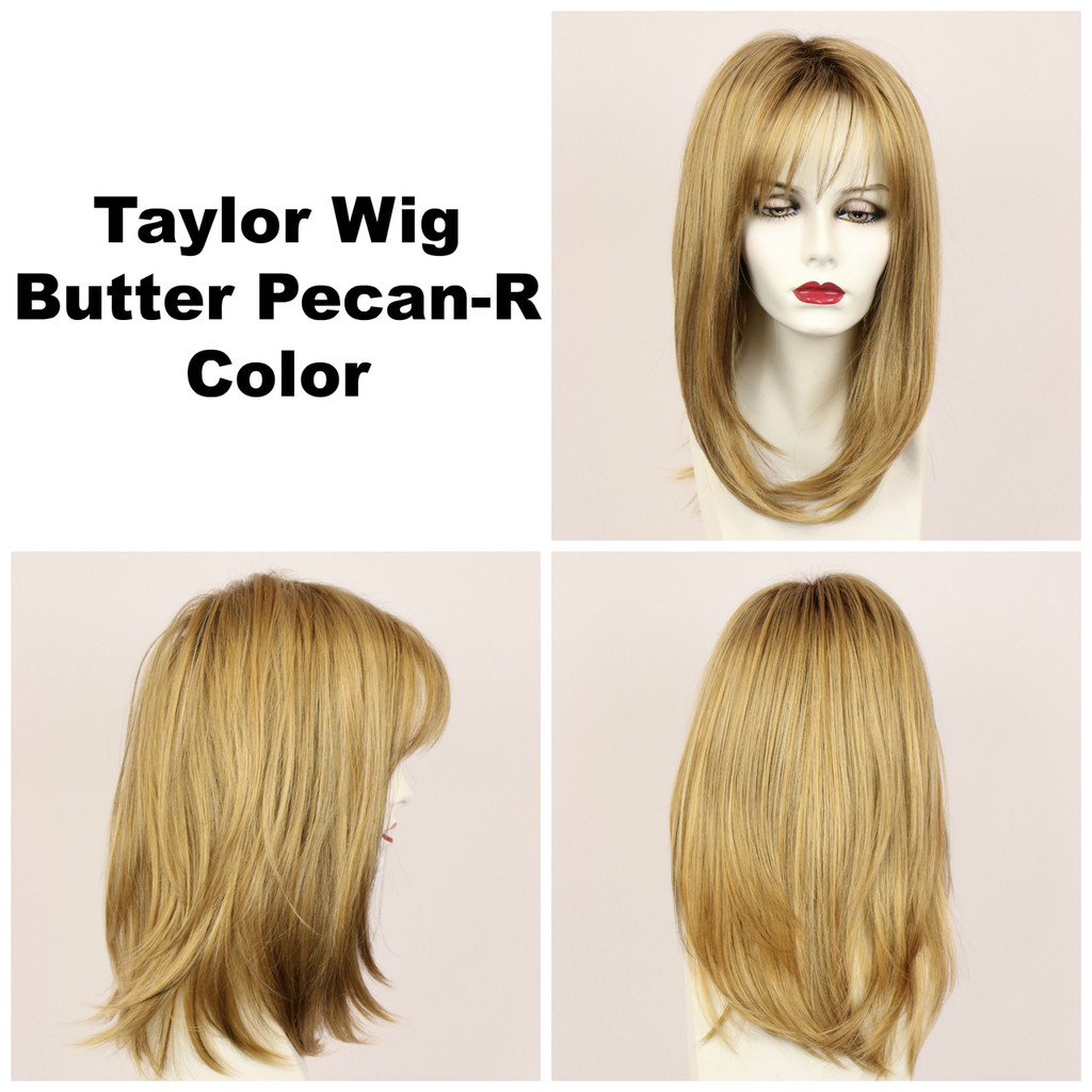 Butter Pecan-R / Taylor w/ Roots / Long Wig