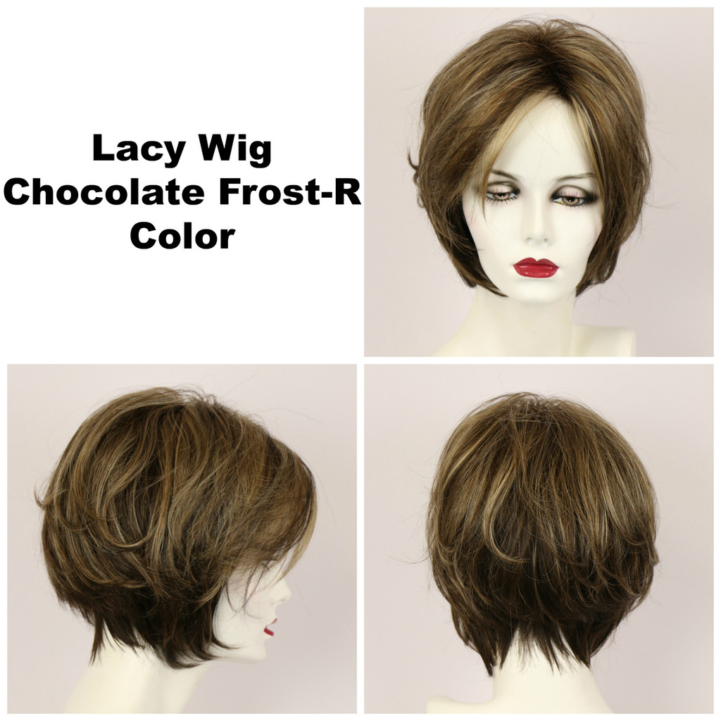 Chocolate Frost-R / Lacy w/ Roots / Medium Wig